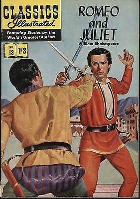 Classics Illustrated #13 - A First Uk Edition With Hrn 126. Nice Vg+ Glossy Cvr