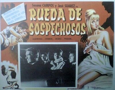 Film Noir Sexy Blonde Breasts Scary Lobby Card: 1964