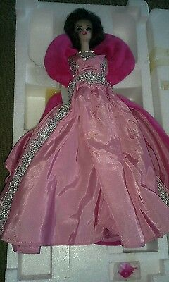 1990 Barbie Sophisticated Lady 1965 Porcelain Doll with Box & COA