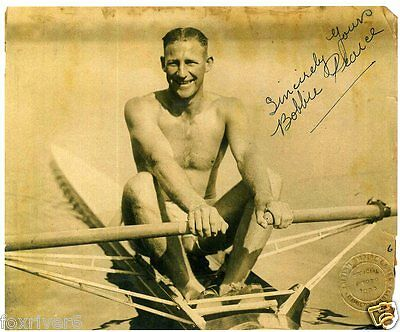 BOBBY PEARCE Signed Photograph - OLYMPICS Rowing Champion 1928 & 1932