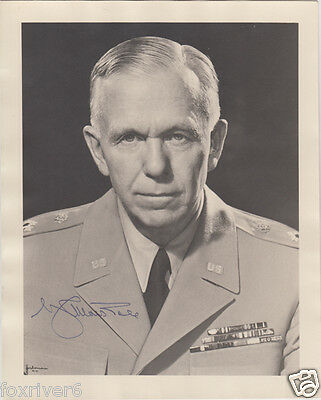 George C Marshall Signed Photograph - Soldier & Statesman / US Chief of Staff