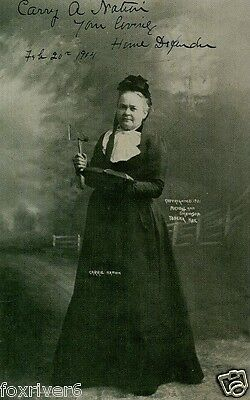 CARRY A NATION (1846-1911) Signed Photograph - Temperance Crusader