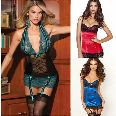 Ladies Sexy/Racy Lingerie Babydoll Dresses Nightwear +G String(Without Stocking)