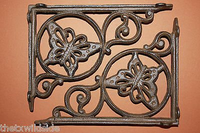 (2),butterfly,corbels, Shelf Brackets,wall Brackets,braces,country Decor, B-16