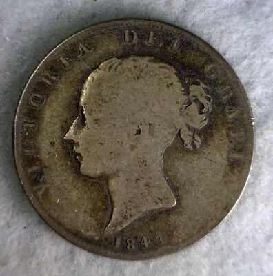GREAT BRITAIN 1/2 CROWN 1844 SILVER COIN (stock# 0771)