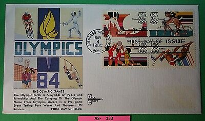 C-112a US First Day Cover International Olympic Games Block of 4   photos as-133
