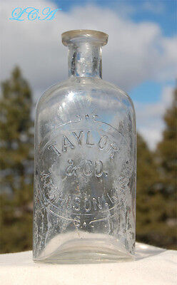 Super OLD pre- 1887 ATCHISON KANSAS bottle TAYLOR Company McC McCully