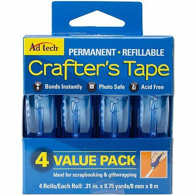 Ad Tech Crafter's Tape -  4  Runner Permanent Adhesive Roller VALUE PACK!