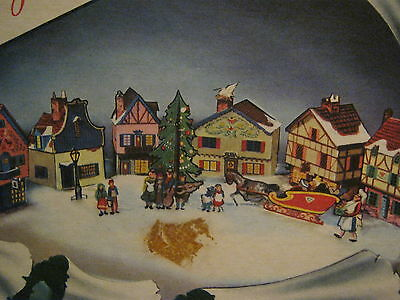 VINTAGE - NURSERY RHYME - CHRISTMAS VILLAGE - PUNCH-OUT -ca1950's