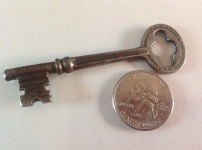 Antique 1904 Patent R & E Skeleton Lever Lock Key #45 Russell & Erwin Mfg. Co.
