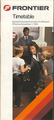 Frontier Airlines system timetable 11/1/85 [5053]