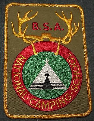 BSA National Camping School NCS Jacket Patch Khaki Background Cloth/Gauze Back