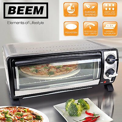HOBERG Pizza-Ofen Gourmet 1400W Mini four 12L a pizza Pierre à