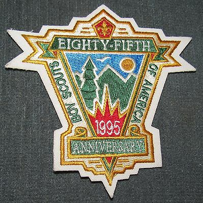BSA 1995 85th Anniversary White Twill Patch