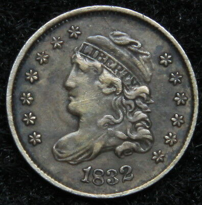 1832 Capped Bust Half Dime H10C 5 Cents - Nice Old Coin, Free Shipping  (5221)