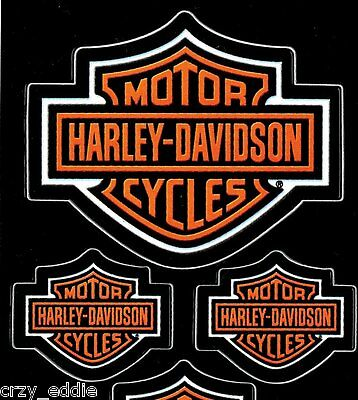 Five (5) Harley Davidson  Bar And Shield Decals ** Made In The Usa **
