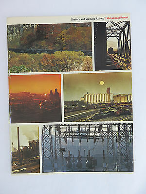 Norfolk & Western (N&W) Railway 1964 Annual Report. 44 pages data & pictures