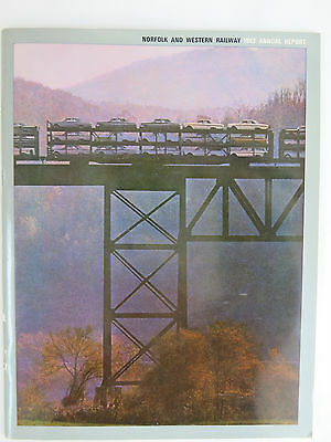 Norfolk & Western (N&W) Railway 1963 Annual Report. 52 pages data & pictures