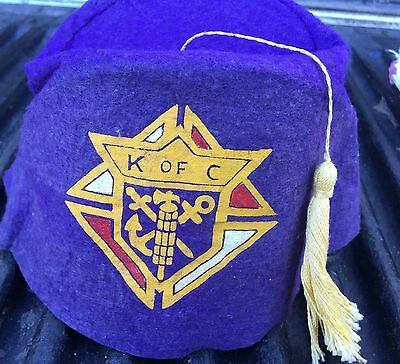 Vintage Knights of Columbus Cap Hat 100+ Years Old?