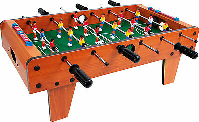 Table Fussball Kicker-table Table unit in wood Football ca. 70 x 55 x 25 cm New