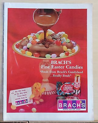 1967 magazine ad for Brach's Easter Candies - Fresh from Brach's Candyland