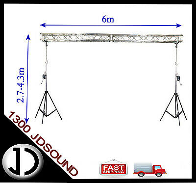 6m x 4m 290mm tri truss Truss stand - Heavy duty winch up lighting truss NEW