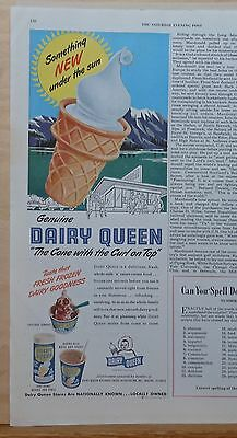 1950 magazine ad for Dairy Queen - Something New Under the Sun, cone with a curl