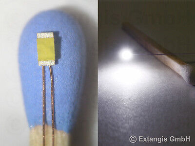 30x SMD LED 0603 ULTRAFLACH PUR WEISS +Draht ultrathin 0.4mm copper wire 0.1mm