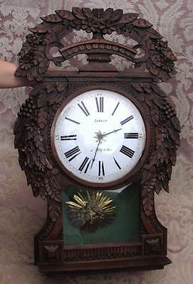 Antique Tall Case French Provincial Morbier Clock Picardy St.nicholas