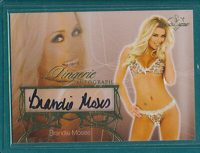2013 Benchwarmer Brandie Moses LINGERIE Autograph Card