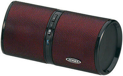 Jensen SMPS-622-R Bluetooth Wireless Rechargeable Stereo Speaker (Red) - Misc
