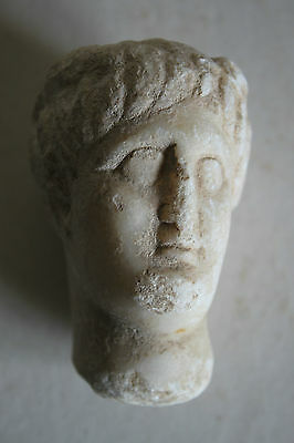 ANCIENT ROMAN MARBLE HEAD of MERCURY 2/3rd  CENTURY AD