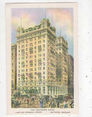 The Southern Hotel Baltimore Maryland USA Vintage Postcard 970a