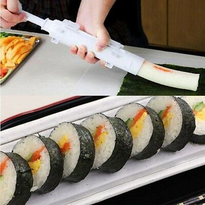 DIY Sushi Roll Maker Machine Kit Rice Roller Making Easy Food Cooking Tool Molds