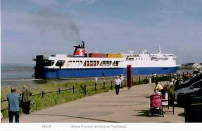 Stena Pioneer ferry arriving at Fleetwood