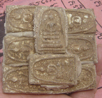 "Huge Multi tablet fired clay famous monk ""Pra Somdaj Toh""Thai Amulet#3"