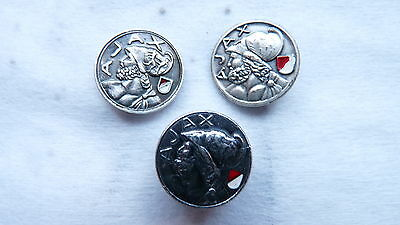 3 DIFFERENT  Vintage football pin - badge -buttonhole  AJAX