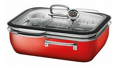 Silit Dampfgarer mit Deckel 34cm ecompact® Energy Red