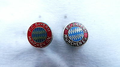 2 DIFFERENT  Vintage football pin - badge -buttonhole F.C. BAYERN MUNCHEN