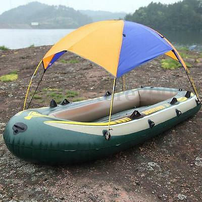 3 Person Sun Shelter Fishing Tent Inflatable Boat Rubber Outdoor Sunscreen New