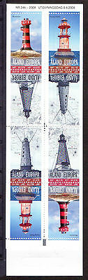 ALAND 2008 stamp booklet Lighthouses um (NH) mint Architecture
