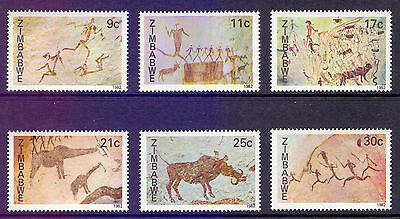 ZIMBABWE 1982 stamps Rock Paintings um (NH) mint