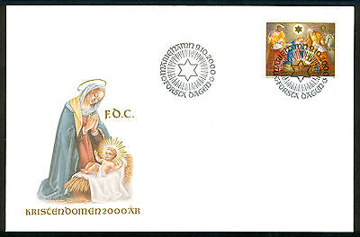 ALAND 2000 stamp Christianity 2000 Years on FDC Religion