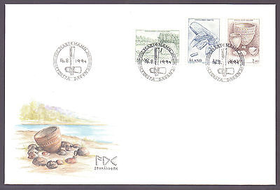 ALAND 1994 stamps The Stone Age on FDC