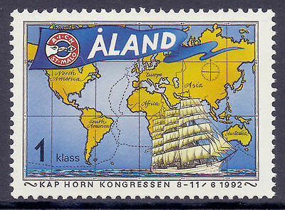 ALAND 1992 stamp The Cape Horn Congress um (NH) mint) Sailing Ships Maps