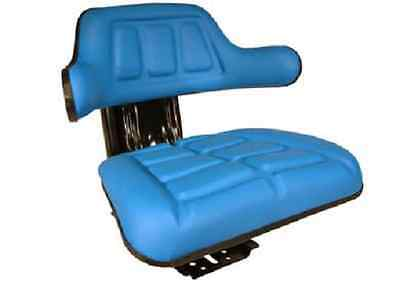 Iseki Tractor Universal Suspension Adjustable Blue Wrap Around Seat Vat Inc