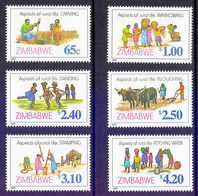 ZIMBABWE 1997 stamps Rural Life um (NH) mint