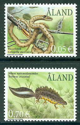 ALAND 2002 stamps Smooth Snake & Newt um (NH) mint Amphibians Reptiles