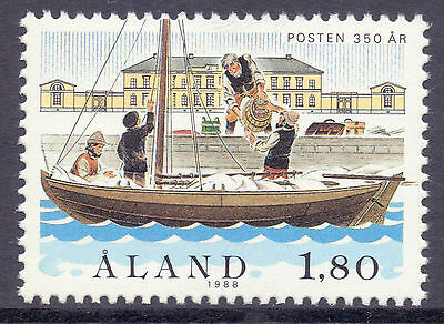 ALAND 1988 stamp Postal Service 350th Anniversary um (NH) mint Ships