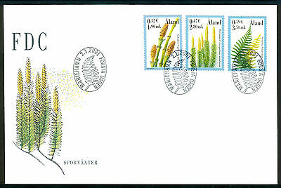 ALAND 2001 stamps Spore Plants on FDC